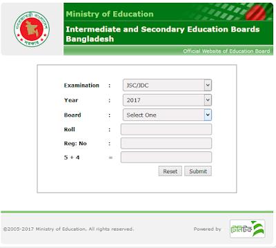 JSC Result 2018 Bangladesh All Education Board.