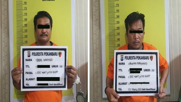 Ini Tampang Pelaku Teror Kepala Anjing ke Rumah Pejabat Kejati Riau