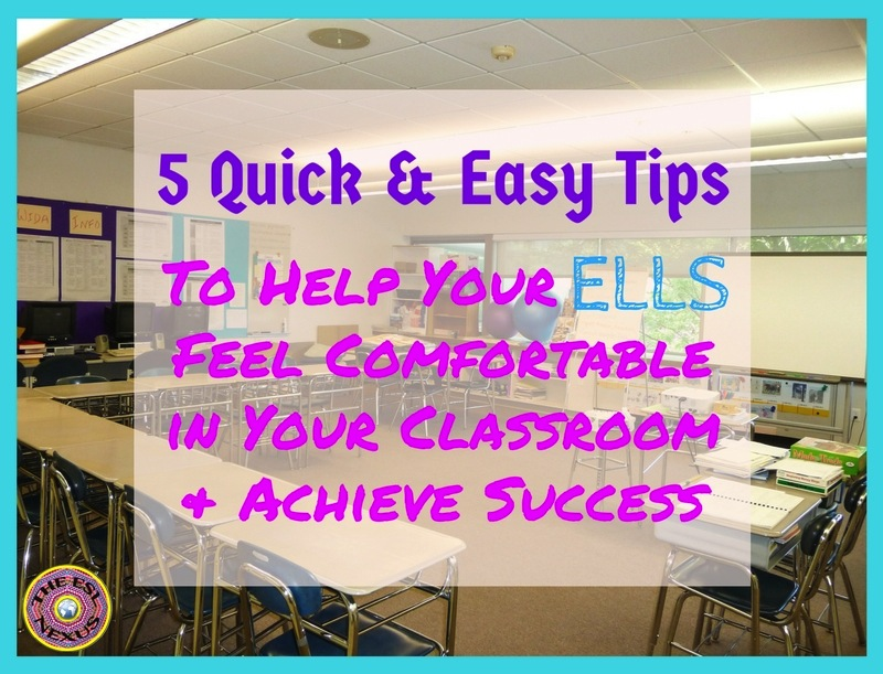 5 tips to encourage and support the English Language Learners in your class. | The ESL Connection