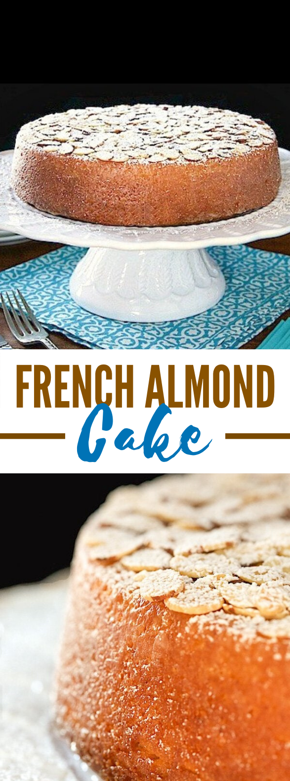 Easy French Almond Cake #desserts #christmas