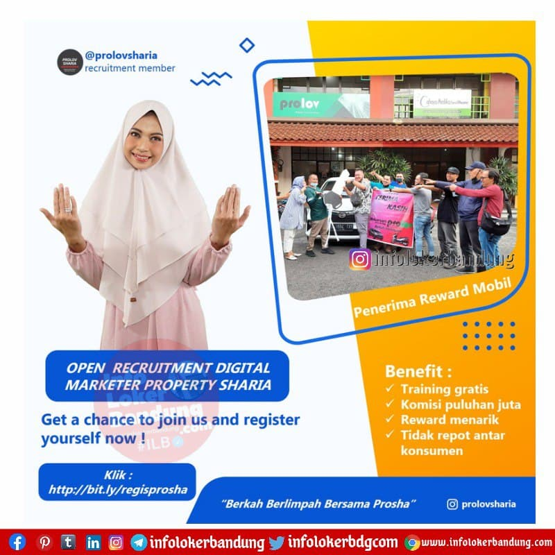 Lowongan Kerja PT Prolov Juara Property ( Prolov Sharia) Bandung April 2021