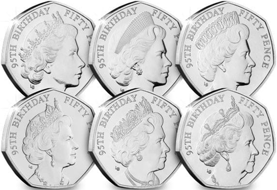 Isle of Man 50 pence 2021 - 95th Birthday of Her Majesty Queen Elizabeth II