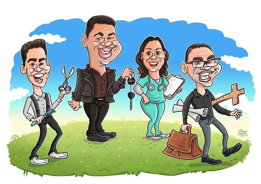 Caricatura da família de Goiás