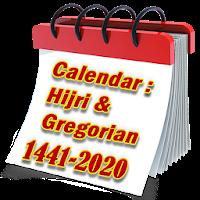 Hijri And Gregorian Calendar 1441- 2020 Apk free for Android
