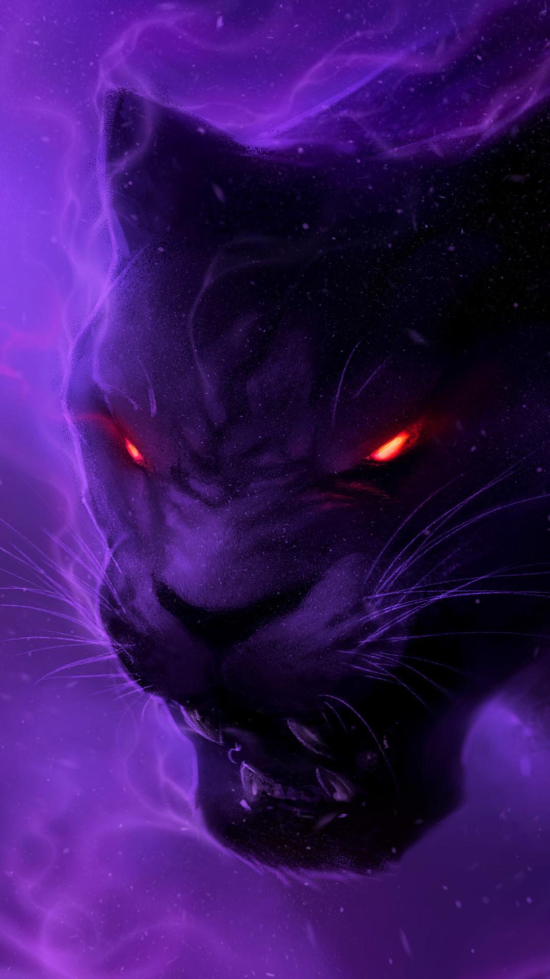 Black Panther Fantasy Wallpaper