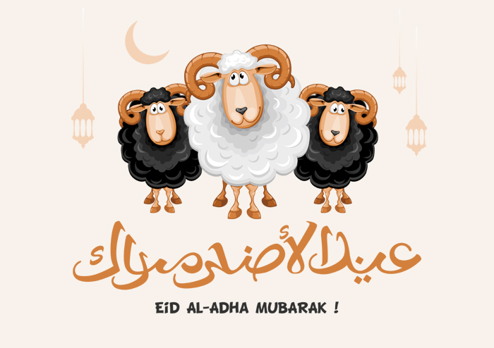 Eid Al Adha Calligraphy Design Illustration Shutterstock Vector Templete