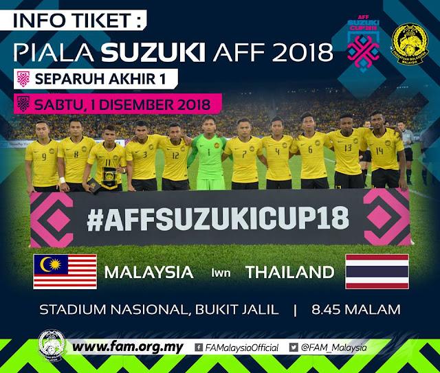 Live Streaming Malaysia vs Thailand AFF Suzuki 2018 1.12.2018