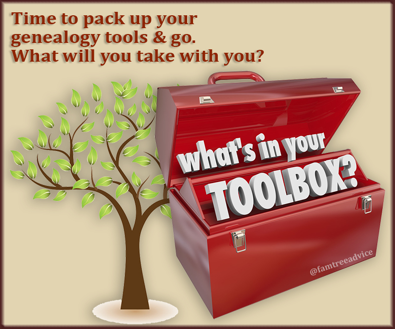 Get ready to hit the road or run to the panic room. Grab your genealogy toolbox!