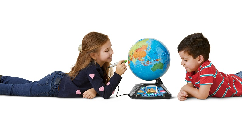 children playing with LeapFrog Magic Adventures Globe