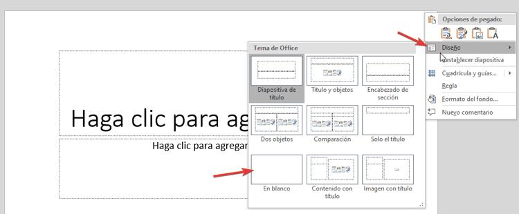 diapositiva en blanco para hacer una Infografia en PowerPoint