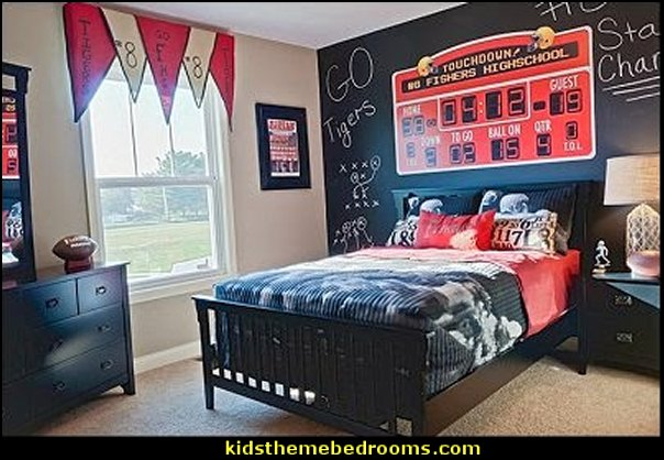 football bedroom sports room decorating ideas-all sports theme bedroom ideas