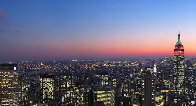 Vistas de Nueva York noche