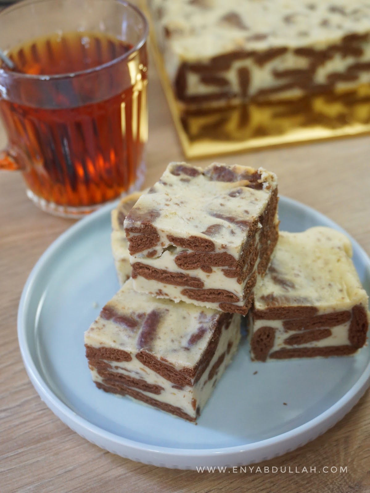 Kek batik cheese, batik cheesecake, resepi kek batik sedap, cara mudah buat kek batik