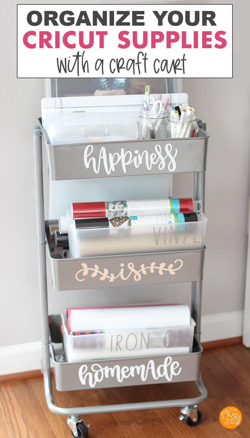 How To Organize Cricut Supplies In A Craft Cart Sunny Day Family
