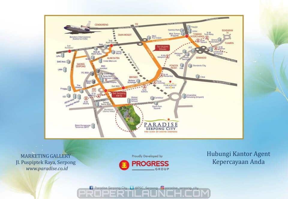 Peta Lokasi Paradise Serpong City
