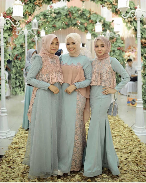 39+ Model Outfit Baju Bridesmaid Berhijab Gaya Selebgram ...