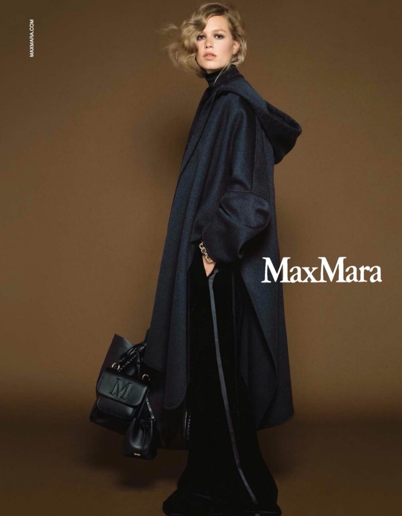 Model Anna Ewers fronts Max Mara fall-winter 2020 campaign.
