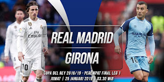 Live Streaming Real Madrid vs Girona 25/01/2019