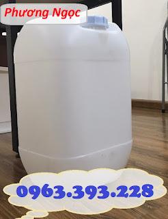 Can nhựa 25L đựng hóa chất, can 25 Lít  vuông tròn, can nhựa nguyên sinh 61964935ce64353a6c75