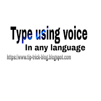 How to type using voice.