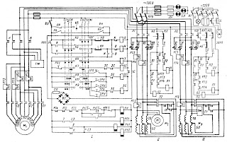 Схема электроприводов грузового крана