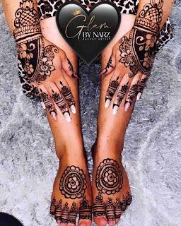 Arbi Mehndi Ki Design