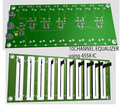 10 Channel Equalizer using 4558 IC