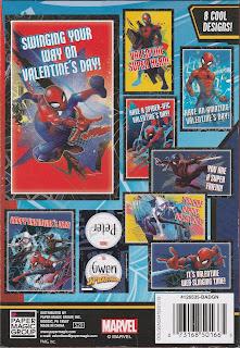 Back of Marvel Spider-Man 32 Valentines box