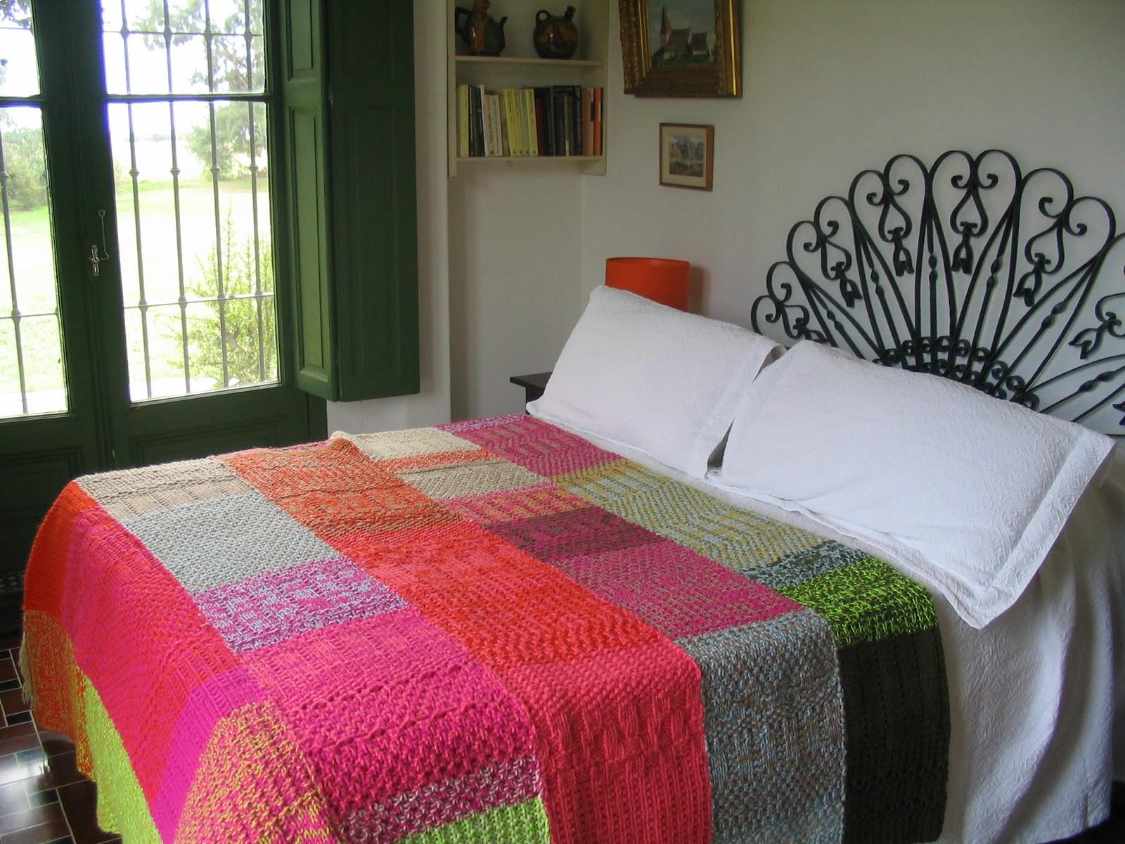 Puerta al sur mantas y pie de camas tejidos a dos agujas - Mantas de punto hechas a mano ...