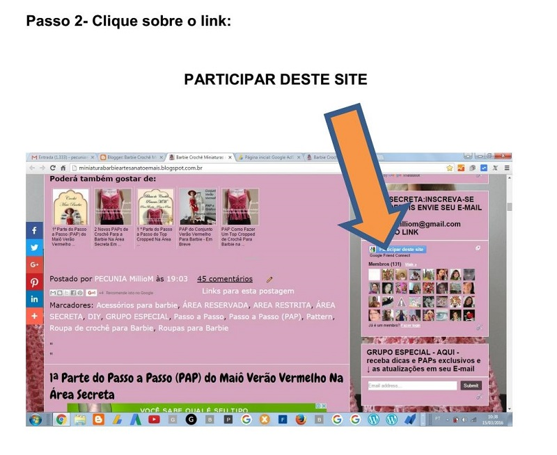 Como se Inscrever na Área Secreta do Blog  Passo a Passo - Tutorial