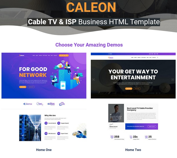 Caleon - Cable TV & ISP Business HTML Template
