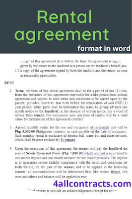 Residential premises lease agreement