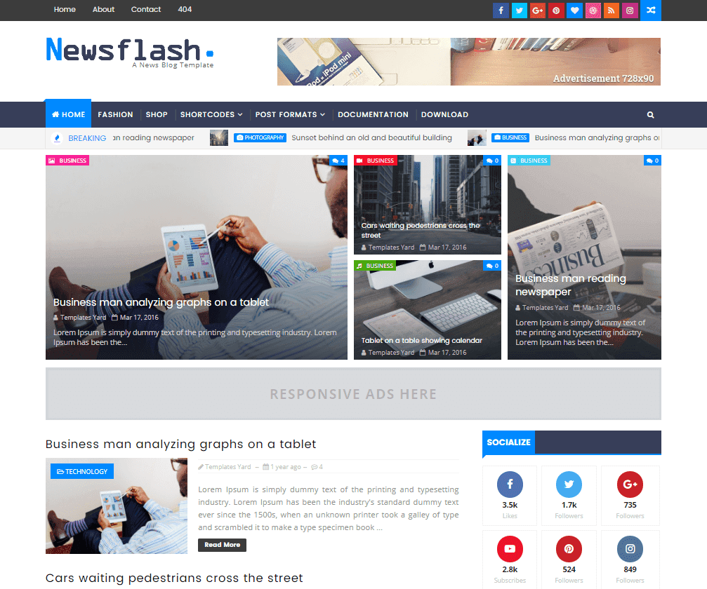 How To Setup Newsflash Blogger Template [TemplatesYard] - Sora ...