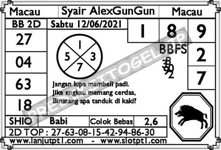 Syair Alexgungun Togel Macau Sabtu 12 Juni 2021