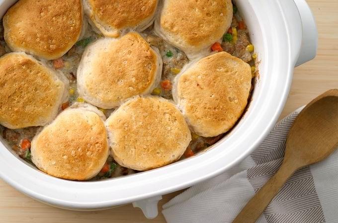 Crockpot Chicken Pot Pie #dinner #crockpot