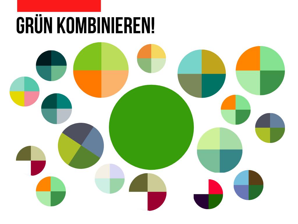 Grün-kombinieren-Farbschema