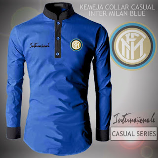Kemeja Distro Bola Casual Inter Milan