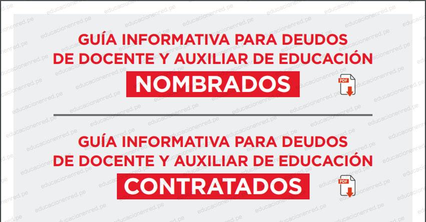 MINEDU publicó Guía para Deudos de Docentes y Auxiliares Fallecidos [DESCARGAR DOCUMENTO .PDF]