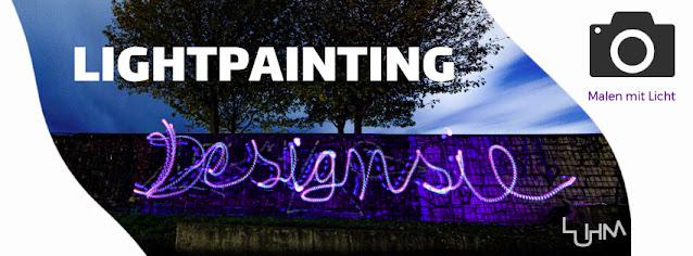Lightpainting Designsie Aufschrift - Anna Pianka