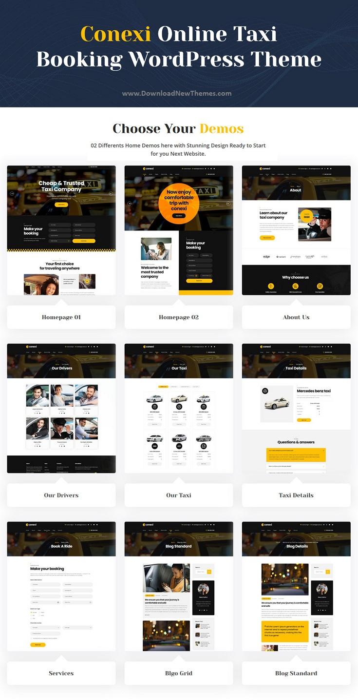 Taxi Booking Service WordPress Theme