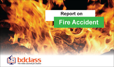 Report on fire accident