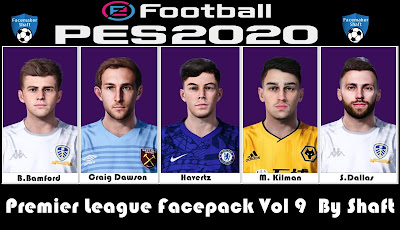 PES 2021 Premier League Facepack Vol 9 by Shaft