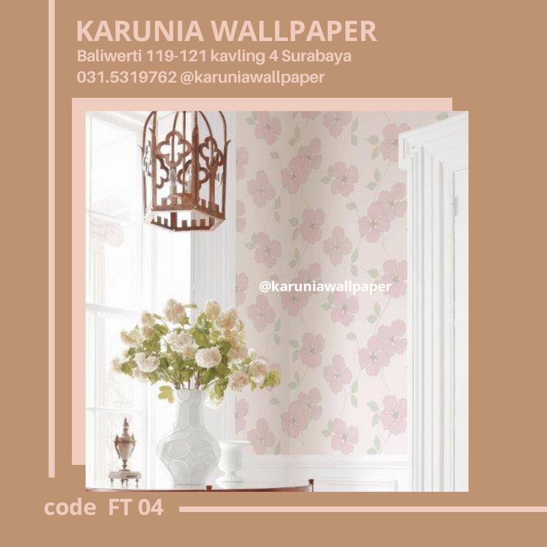 toko jual dinding wallpaper motif bunga