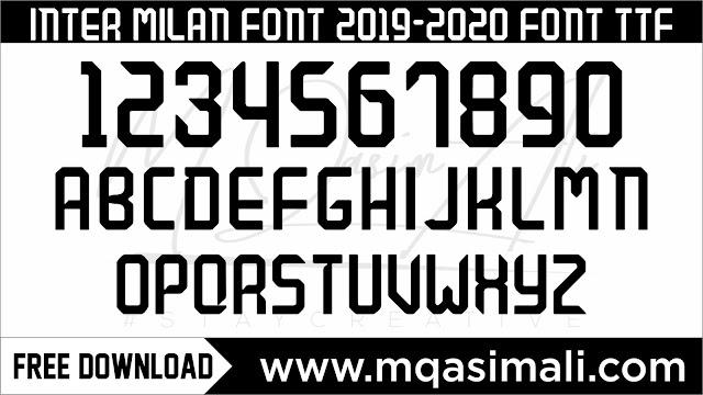 Nike inter milan 2019-20 Football font Free Download by M Qasim Ali