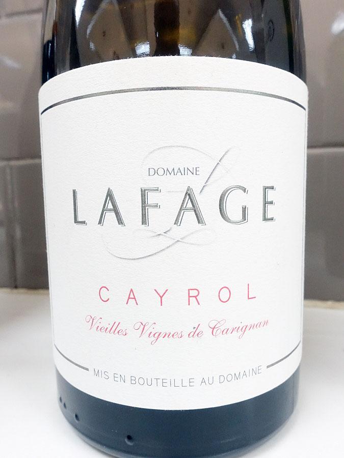 Lafage Cayrol Vieilles Vignes Carignan 2016 (89 pts)