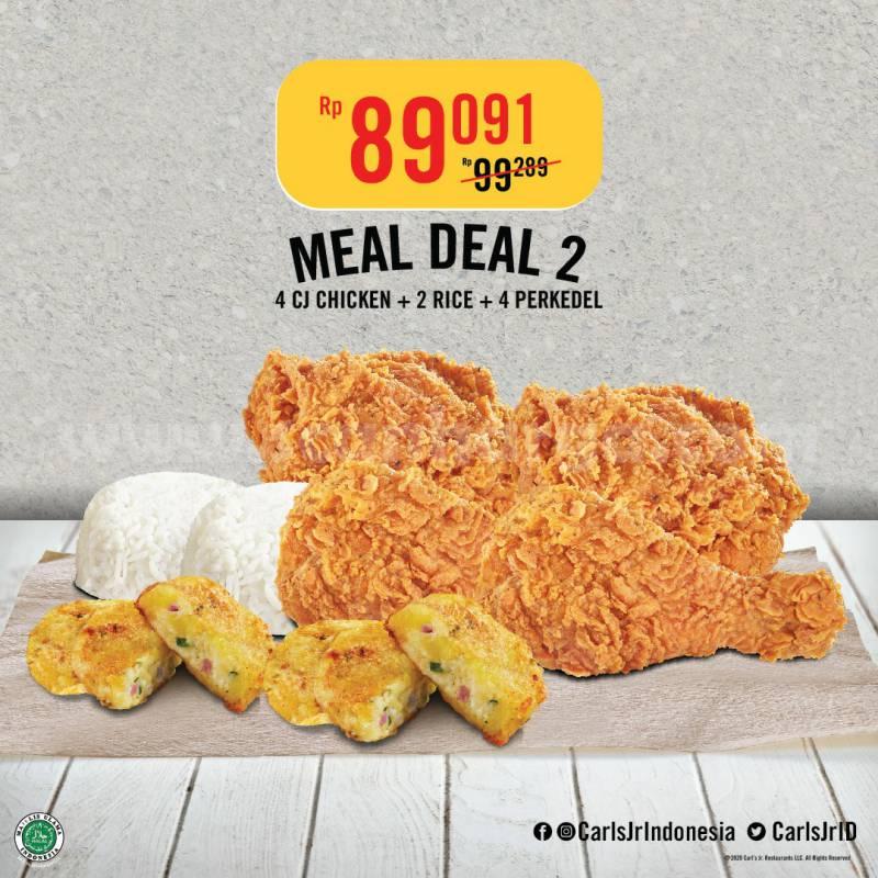 Carl's Jr Promo Paket Meal Deal harga mulai Rp 68.182,-