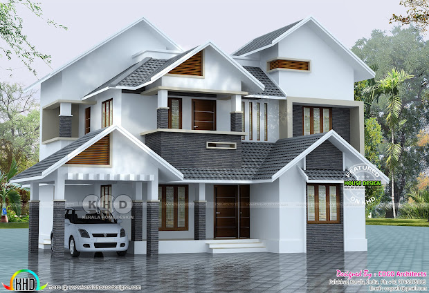 Sloped Roof House Plans