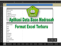 Aplikasi excel Data Base Madrasah Format excel terbaru tahun pelajaran 2017/2018 untuk jenjang MI,MTs dan MA