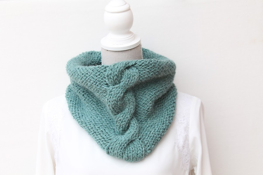 knit; cables; cowl; wool; diy; drops andes
