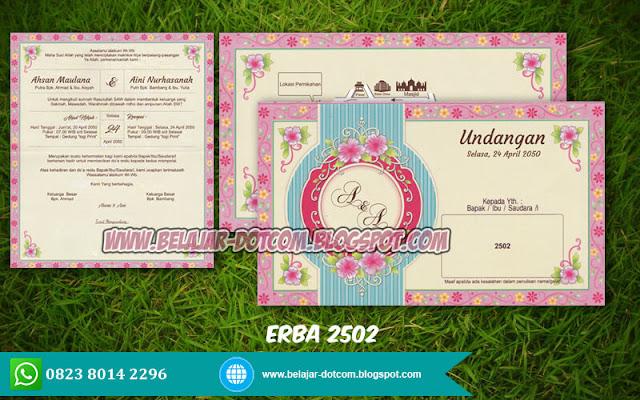 Download Blanko Undangan ERBA 2502 | Undangan Murah 1000 Pink